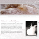 Elegance Bridal website concept