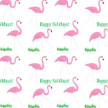 Happy Holidays Flamingos pattern
